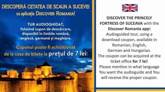 Descoperă Cetatea Sucevei - Tur audioghidat, disponibil în limbile română, engleză, germană și maghiară. FOTO MNB